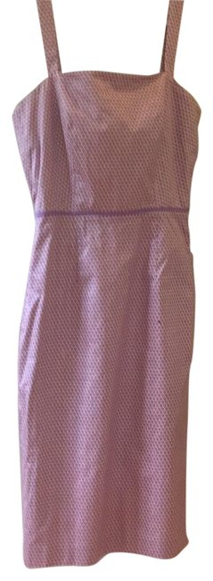 Item - Cream Background with Purple & Mauve Print Rn77388 Mid-length Short Casual Dress Size 2 (XS)