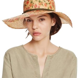 Bloomingdale's floral straw hat