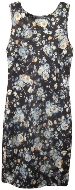 Item - Multi-color Giselle Floral Sleeveless Style No. Cv500037 Short Casual Dress Size 12 (L)