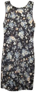 Carmen Marc Valvo short dress Multi-Color Floral Print Pencil Silhoueete Front High Neck Low Back V-neck Relaxed Silhouette on Tradesy