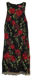 Betsey Johnson Floral Lace Sleeveless Nylon Embroidered Dress