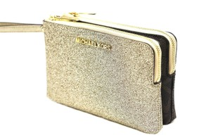 Michael Kors Wristlet in Gold/Brown