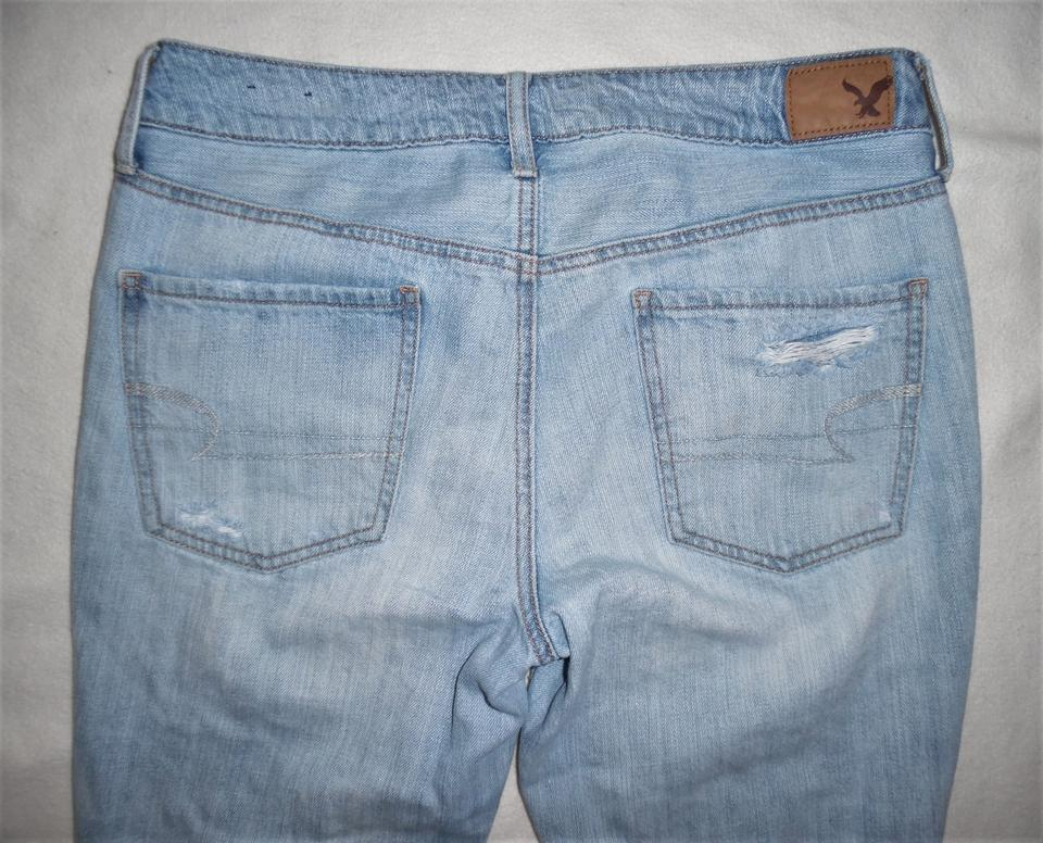 71b052f22f4 American Eagle Outfitters Light Blue Distressed Tomgirl Mid-rise ...