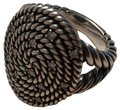 David Yurman Large Cable Coil Oval Ring