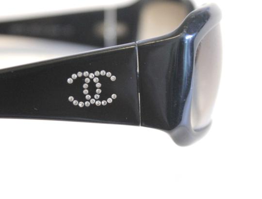 Chanel Chanel 5064 Black Sunglasses Crystal CC 61mm AUTHENTIC