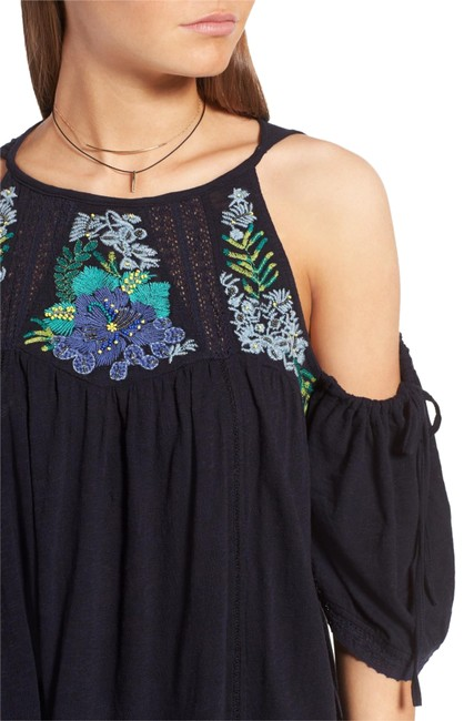 Preload https://item5.tradesy.com/images/free-people-navy-fast-times-cold-shoulder-blouse-tunic-size-8-m-23366349-0-2.jpg?width=400&height=650