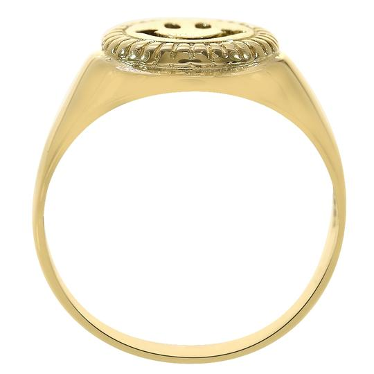 Avital & Co Jewelry 14K Yellow Gold Smile Emoji Ring Size 7.75