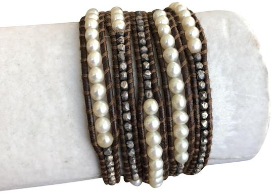 Preload https://item4.tradesy.com/images/chan-luu-white-and-brown-new-pearl-mix-five-wrap-leather-bracelet-23366353-0-1.jpg?width=440&height=440
