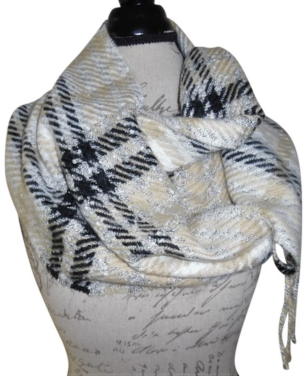 Preload https://item2.tradesy.com/images/echo-white-pale-yellow-black-plaid-soft-fringed-ends-scarfwrap-23366361-0-1.jpg?width=440&height=440