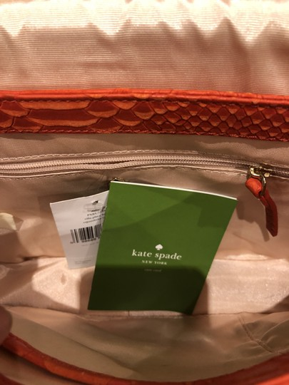 Kate Spade Snakeskin Leather Buckle Shoulder Bag
