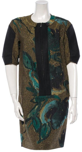 Preload https://img-static.tradesy.com/item/23366403/marni-gold-floral-us-4-it-40-mid-length-workoffice-dress-size-4-s-0-1-650-650.jpg