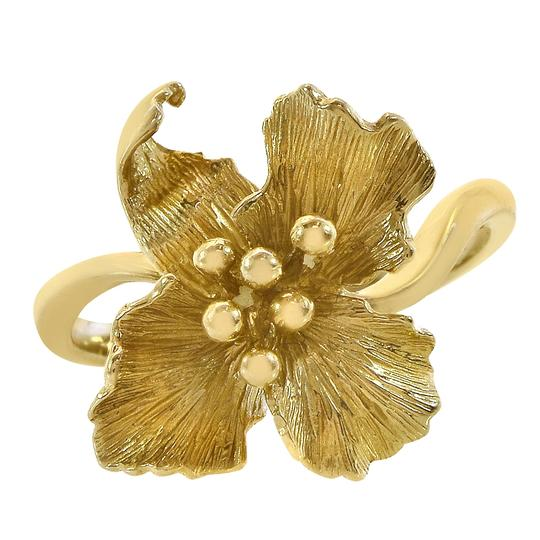 Avital & Co Jewelry 14K Yellow Gold Flower Style Ring Size 6.50