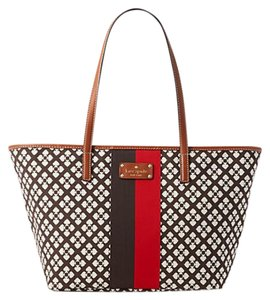 Kate Spade Classic Small Small Harmony Tote in Red Chocolate