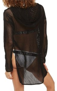 Topshop mesh hoodie cover up