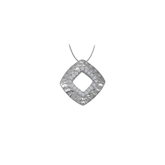 Preload https://img-static.tradesy.com/item/23366457/white-cubic-zirconia-square-shaped-pendant-in-14k-gold-010-ct-tgwjewe-necklace-0-0-540-540.jpg