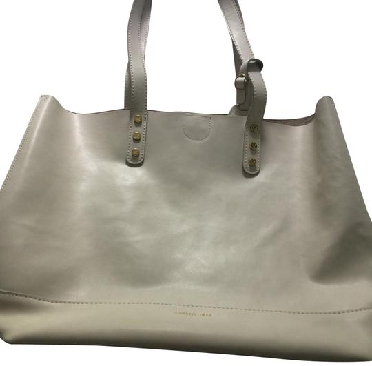 Preload https://item2.tradesy.com/images/emma-fox-vertical-logo-white-leather-tote-23366491-0-1.jpg?width=440&height=440