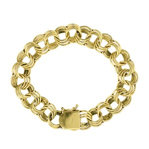 "Avital & Co Jewelry 8"" Ladies 14K Yellow Gold Circle Link Bracelet"