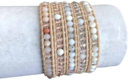 Preload https://img-static.tradesy.com/item/23366528/chan-luu-peach-new-mix-five-wrap-cream-leather-bracelet-0-1-540-540.jpg