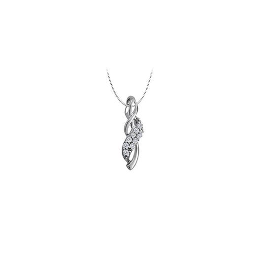 Preload https://img-static.tradesy.com/item/23366546/white-cubic-zirconia-twist-fashion-pendant-in-14k-gold-025-ct-tgw-necklace-0-0-540-540.jpg
