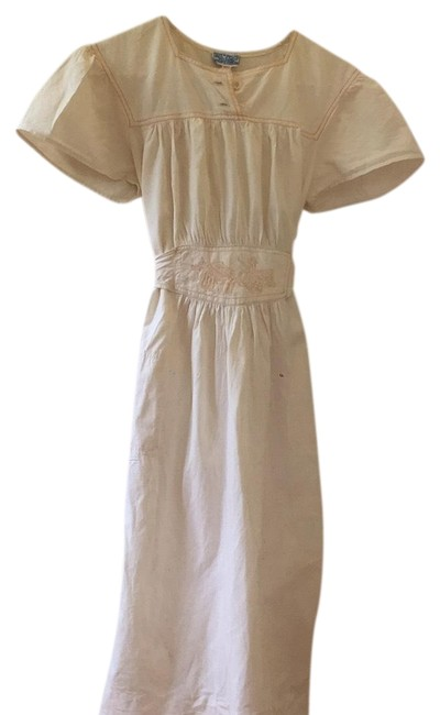 Item - Cream (Off White) Vintage Imports Early 70's Mid-length Casual Maxi Dress Size 2 (XS)