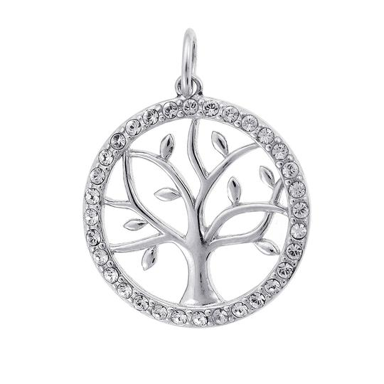 Preload https://img-static.tradesy.com/item/23366641/avital-and-co-jewelry-silver-cubic-zirconia-circle-tree-sterling-pendant-charm-0-0-540-540.jpg