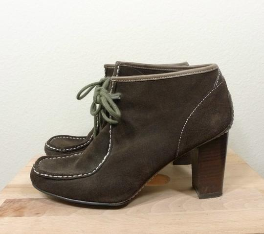 Nine West Ankle Suede Lace Up brown Boots