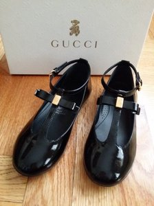 Gucci Black New Kids Patent T-strap 26 Us 10 285312 Shoes