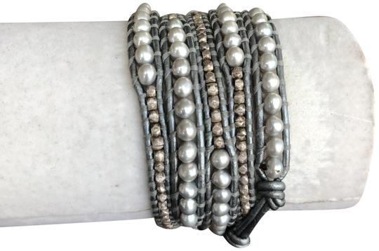 Preload https://img-static.tradesy.com/item/23366706/chan-luu-grey-pearl-new-mix-five-wrap-silver-leather-bracelet-0-1-540-540.jpg