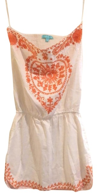 Preload https://item3.tradesy.com/images/melissa-odabash-white-and-orange-beach-mid-length-short-casual-dress-size-8-m-23366707-0-1.jpg?width=400&height=650