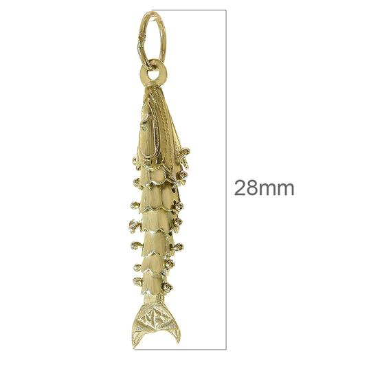 Avital & Co Jewelry 14K Yellow Gold Movable Fish 3D Vintage Charm