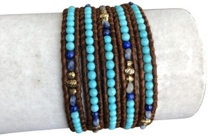 Preload https://item5.tradesy.com/images/chan-luu-turquoise-new-mix-five-wrap-brown-leather-bracelet-23366719-0-1.jpg?width=440&height=440
