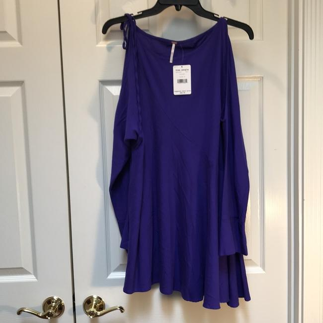 Free People Cold Shoulder Longsleeve Tie Rayon Tunic