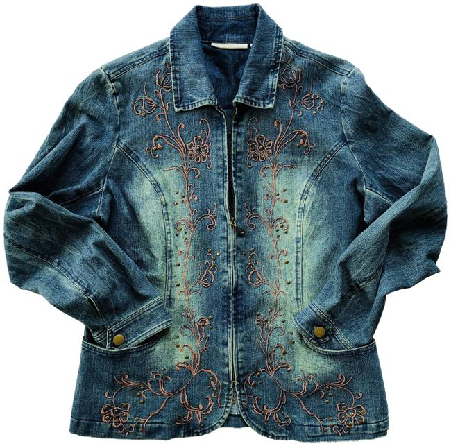 Preload https://item3.tradesy.com/images/embroidered-studded-zip-jacket-size-12-l-23366732-0-1.jpg?width=400&height=650