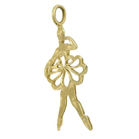 Avital & Co Jewelry 14K Yellow Gold Ballet Dancer Vintage Charm