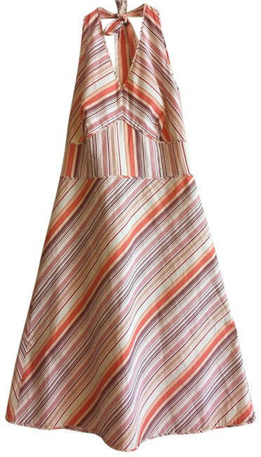 Preload https://img-static.tradesy.com/item/23366812/ann-taylor-cream-red-coral-striped-a-line-halter-sleeveless-fit-flare-v-neck-mid-length-short-casual-0-1-650-650.jpg