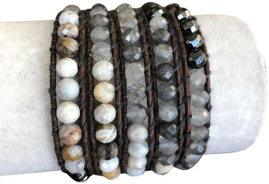 Preload https://item1.tradesy.com/images/chan-luu-hematite-new-chunky-mix-five-wrap-natural-brown-bracelet-23366890-0-1.jpg?width=440&height=440