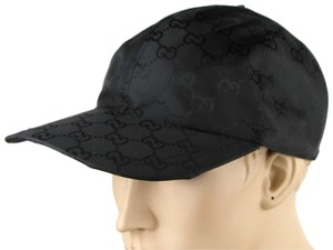 Gucci Black GG Nylon Baseball Cap with GRG Elastic Back L 387578 1000