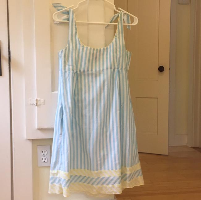 Lilly Pulitzer short dress Light blue, white with a bit of yellow trim. on Tradesy