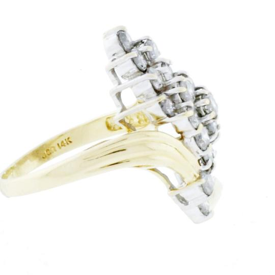 Diamondsy Wholesale - 14k gold 1/2 diamonds cluster waterfall ring