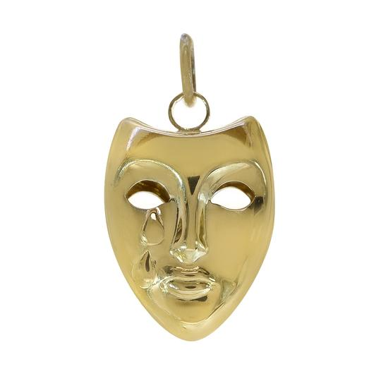 Preload https://img-static.tradesy.com/item/23366948/avital-and-co-jewelry-yellow-gold-14k-theater-crying-mask-3d-vintage-charm-0-0-540-540.jpg