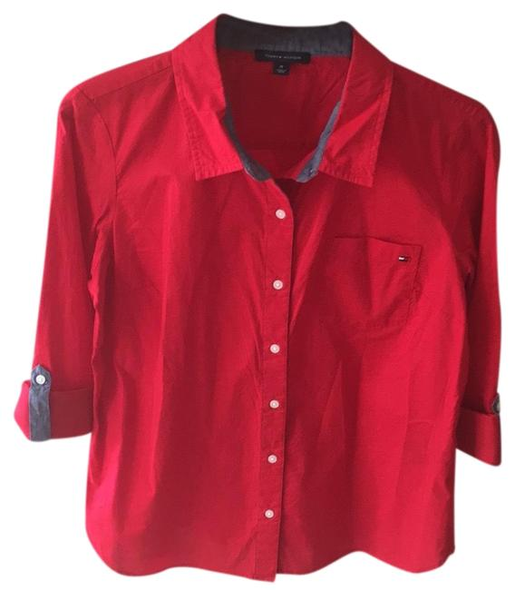 Preload https://img-static.tradesy.com/item/23366954/tommy-hilfiger-red-button-down-top-size-10-m-0-1-650-650.jpg