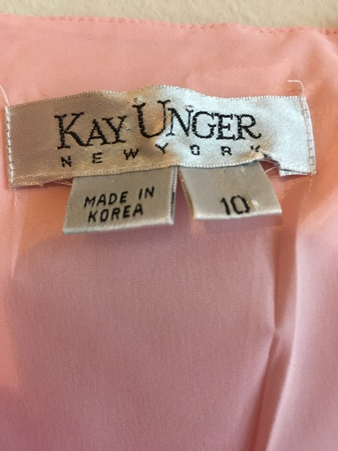 Kay Unger A-line Midi Sleeveless V-neck Dress