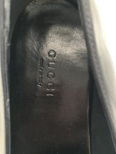 Gucci Leather Classic Silver Summer Chic Black Flats