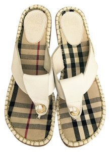 Burberry Sandals Nova Check white/nova-check Wedges