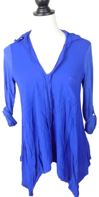 Preload https://item1.tradesy.com/images/splendid-blue-rayon-modal-supima-cotton-blouse-size-2-xs-23367050-0-1.jpg?width=400&height=650