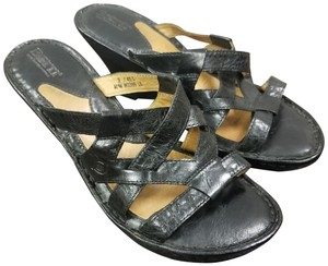 Børn Leather Black Wedges