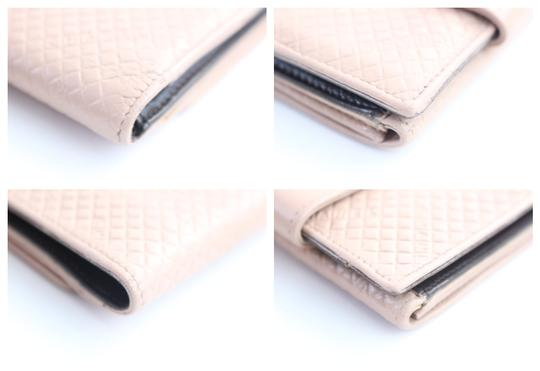 Chanel Puzzle Crossword Flap Bifold Pink Clutch