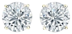 0.25Ct Round Cut Diamond Stud In 14k Yellow Gold (J-K Color, I2 Clarity) 0.25carat