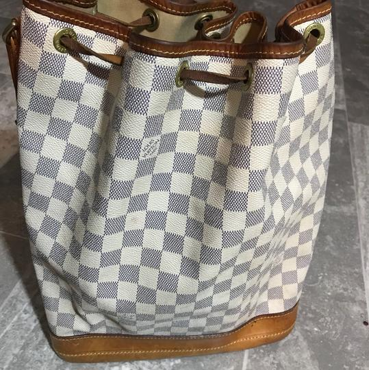 Louis Vuitton Damier Azur Bucket Hobo Bag