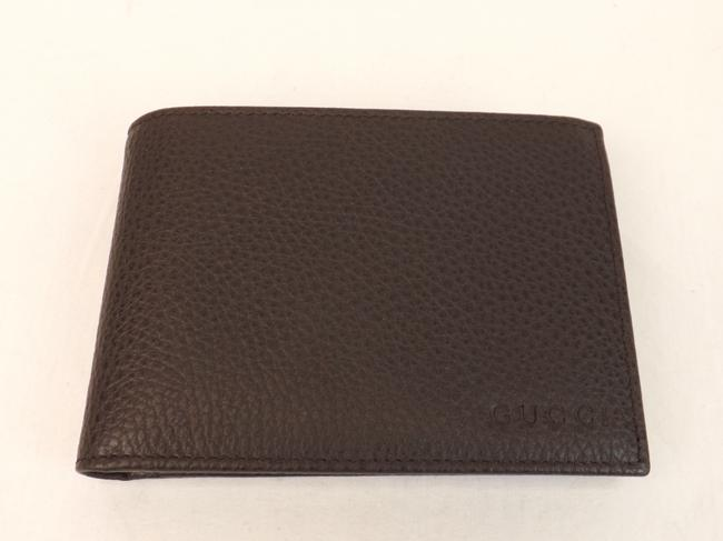 Item - Dark Brown Textured Calf Leather Id Window Large Wallet #391504 Men's Jewelry/Accessory